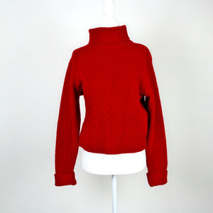 VINTAGE PENDLETON Petite Wool Turtleneck Sweater